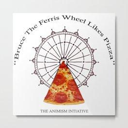 Bruce The Ferris Wheel Metal Print