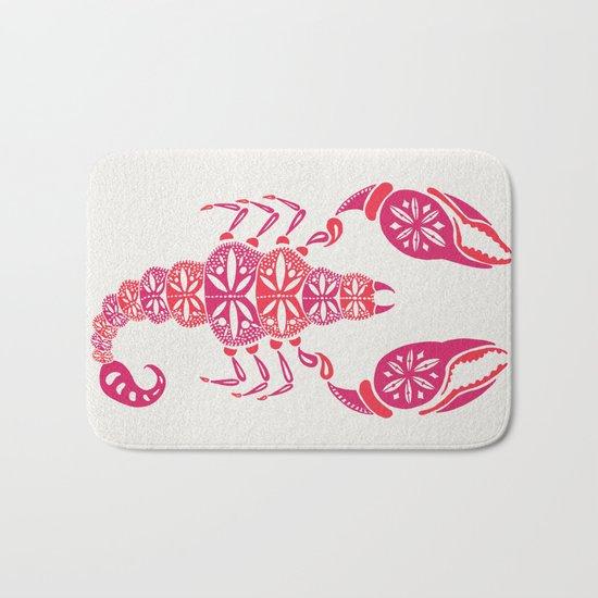 Pink Scorpion Bath Mat