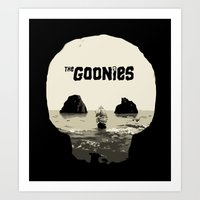 the goonies Art Prints featuring THE GOONIES by Rocky Rock