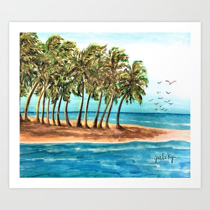 Private Island Painting Art Print