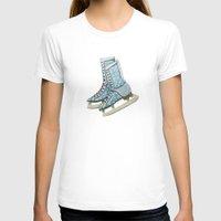 polka dot T-shirts featuring Polka dot ice skates by Yuliya