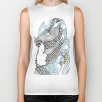 mermaids Biker Tanks featuring mermaids 5 by winnie patterson