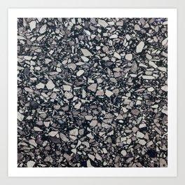 terrazzo shades of grey Art Print