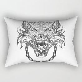 Norse Wolf Monster Fenrir Rectangular Pillow