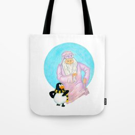 Winter Warlock & Topper Santa Claus is Comin' to Town Tote Bag