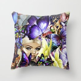 The Royal Butterfly Grounds Throw Pillow