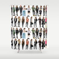 harry styles Shower Curtains featuring 21 Harry Styles by justsomestuff