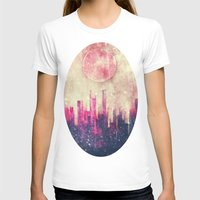 city T-shirts featuring Mysterious city by SensualPatterns