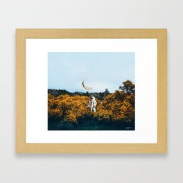 for you, flowers and the moon. Framed Art Print