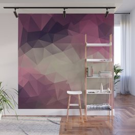 Polygon pattern . Triangles with a texture craquelure . Wall Mural