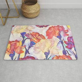 Painted Carnations Rug