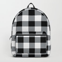 Farmhouse Style Black Buffalo Check Pattern Backpack