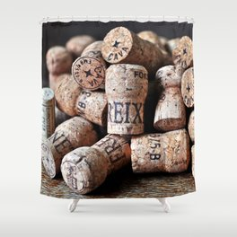Cork of Champagne Shower Curtain