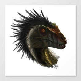 Raptor Head Canvas Print