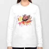smaug Long Sleeve T-shirts featuring Watercolor Smaug by Trinity Bennett