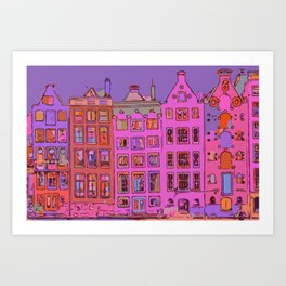Canal houses Amsterdam the Netherlands Art Print