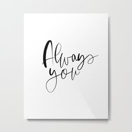 Always You Card, Simple See You At The Altar Card, Groom Wedding Day Card, Bride Wedding Day Card, C Metal Print
