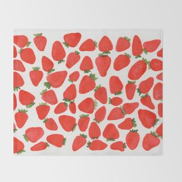 Some Strawberries Throw Blanket