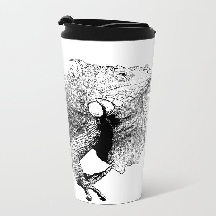 Iguanas (animals) Metal Travel Mug