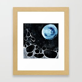 To the Moon and Back, for you Framed Art Print