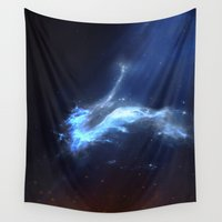 virgo Wall Tapestries featuring ε Virgo by Nireth