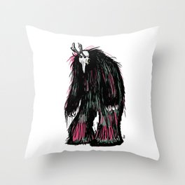 Yeti Beast Throw Pillow