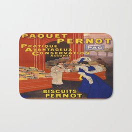 Vintage poster - Biscuits Pernot Bath Mat