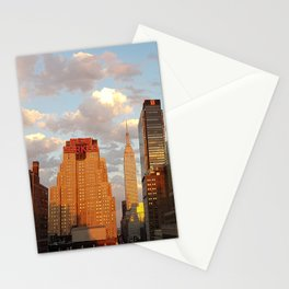 Manhattan Skyline and Sunset Stationery Cards