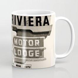 Vintage Neon Sign - Riviera Motor Lodge - Tucson Coffee Mug