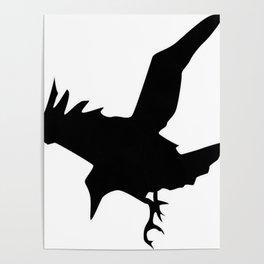 Raven A Halloween Bird Of Prey  Poster