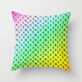 Snack Storm Rainbow Variant Throw Pillow