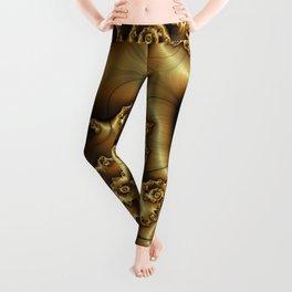 Golden Ginger Fractal Leggings