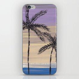 two palm trees euphoric sky iPhone Skin