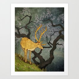 The Ceryneian Hind Art Print