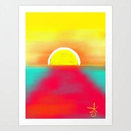 HOT SUNSET Art Print