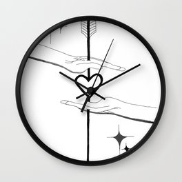 The Weapon We Have Is Love Wall Clock