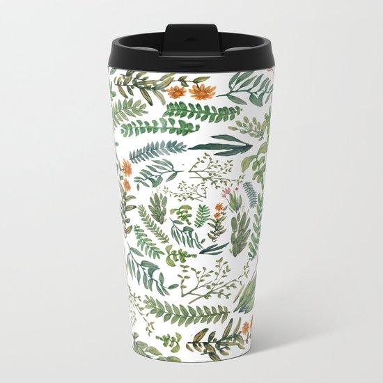water color rotation garden Metal Travel Mug