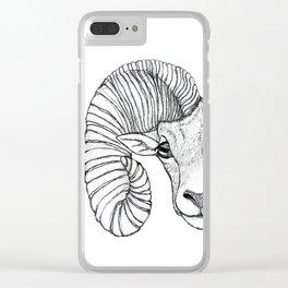 Ram Head Clear iPhone Case