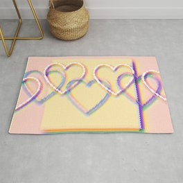 Rainbow Hearts, Pixelated Rug
