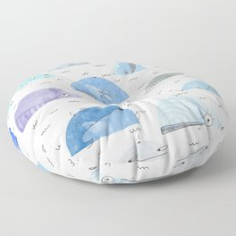 Whale party Floor Pillow