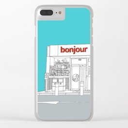 Bonjour! Clear iPhone Case