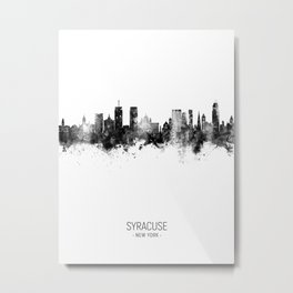 Syracuse New York Skyline Metal Print