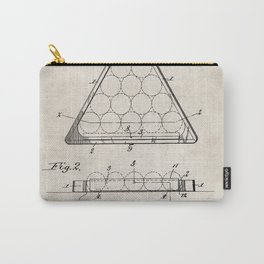 Pool Patent - Billiards Art - Antique Carry-All Pouch