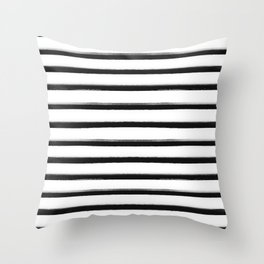 Stripes, Scandinavian, Minimal, Pattern, Modern art Throw Pillow