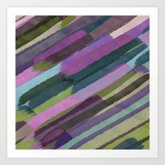 Brushstrokes Art Print