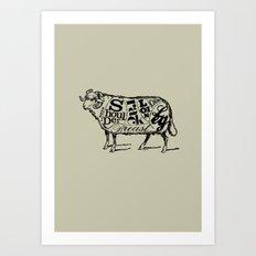 Mutton Cuts Art Print