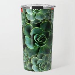 CHINESE  RED ART JADE GREEN SUCCULENTS Travel Mug