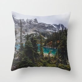 Joffre Lakes Throw Pillow