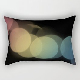 Rainbow Bokeh Rectangular Pillow