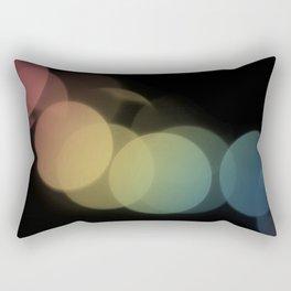 Rainbow Bokeh Rectangular Pillow